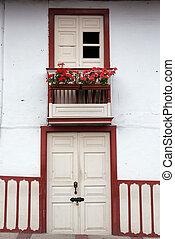 Colonial Door and Balcony