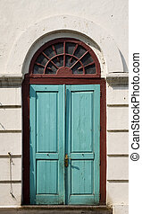 Colonial door - Traditional Dutch colonial door in an old...