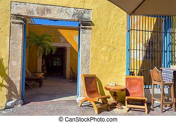 Colonial Entrance in Mexico