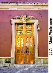 Colonial Facade of a House in Oxaca
