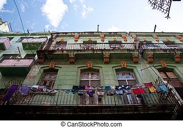 Colonial facades in Havana