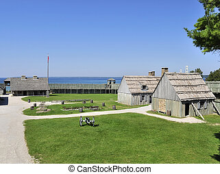 colonial, forte, michilimackinac