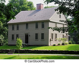 Colonial home Modern custom colonial house in a residential