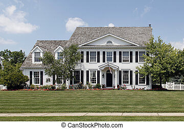 Colonial home in suburbs - Front photo of colonial home in...