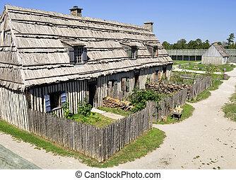 colonial, michilimackinac, fortaleza