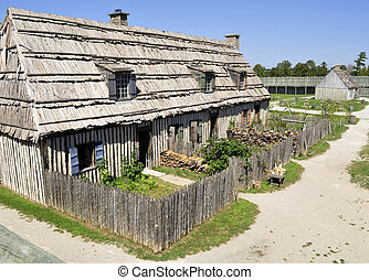 colonial, michilimackinac, forte