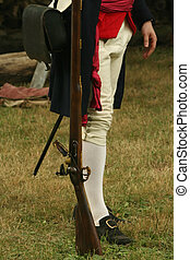 Colonial Soldier - A Colonial Soldier Stands Ready for...