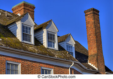 Colonial style - Detail of colonial style architecture of...