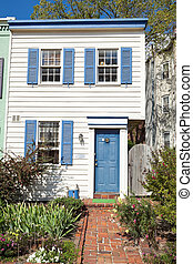 Colonial Style Washington DC Row House Home - Colonial style...