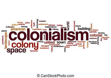 colonialismo, palabra, nube