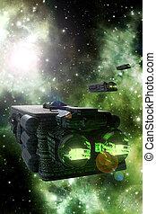 colonización, nave espacial