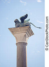 Colonna di Marco, Venice - ancient Lion of St. Mark column...