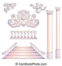 colonna, scala, set