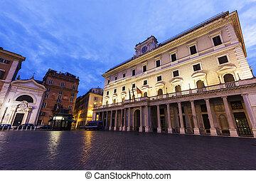 Colonna Square in Rome. Rome, Lazio, Italy.