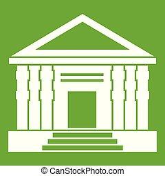 colonnade, ícone, verde