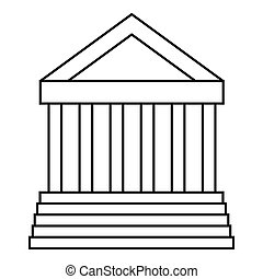 Colonnade icon, outline style