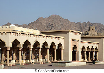 Colonnade in Muttrah, the old town of Muscat, Oman