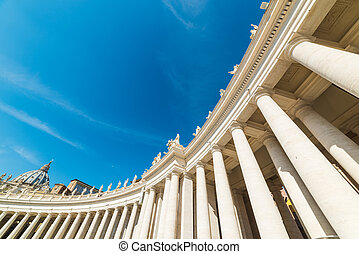 Colonnade in Saint Peter square