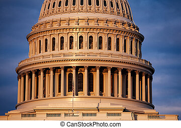 Colonnade of The US Capitol Building in Washington