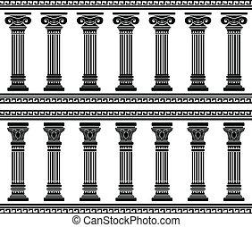 colonnade., stencil