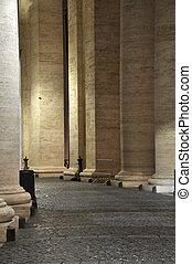 Colonnades of Bernini in the San Pietro square