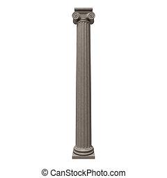 colonne, 3d, isolé, grec