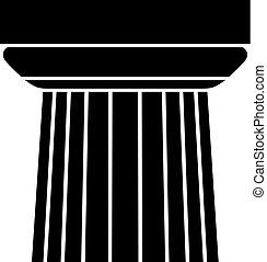 colonne, casquette, élément architectural