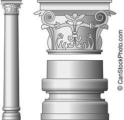 colonne, grec