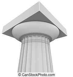 colonne, grec, render, 3d