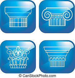 colonne, icônes