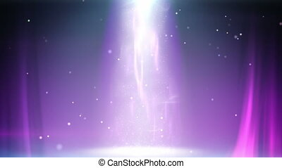 colonne, lumière, magie, boucle