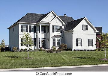 colonne, maison, histoire, deux, luxe