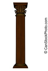 colonne, -, render, 3d
