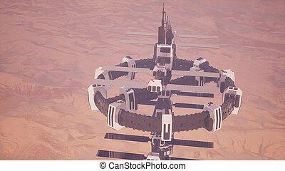 Colony on Mars Planet