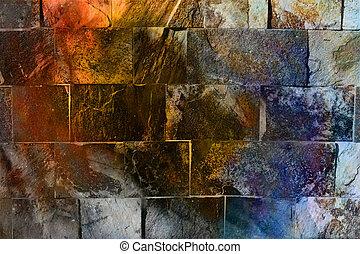 coloor, pared, fondo., roca, efect, texture.