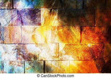 coloor, pared, fondo., roca, efect, texture., ocre