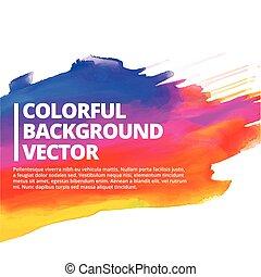 coloré, éclaboussure, vecteur, conception, fond, encre