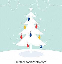 coloré, arbre, magique, décoration, retro, noël