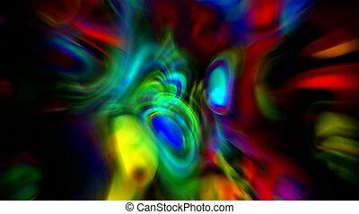 coloré, art abstrait, ondulation, raie
