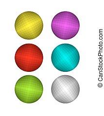 coloré, ball., ensemble, disco, rouges, rose