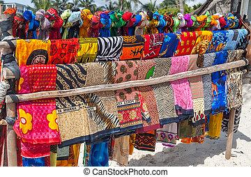 coloré, beau, scarfes