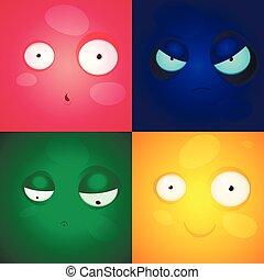 coloré, blots, vecteur