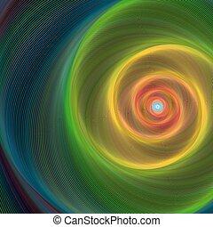 coloré, brillant, spirale, fond