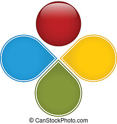 coloré, business, diagramme, lustré