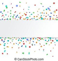 coloré, célébration, arrière-plan., confetti.