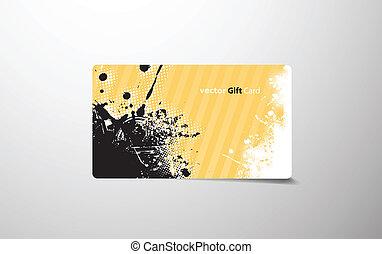 coloré, cadeau, card.