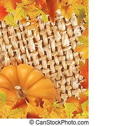 coloré, cadre, de, baissé, automne, leaves.