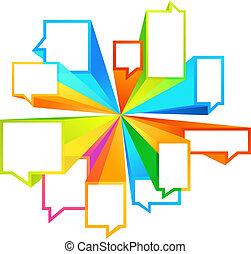 coloré, callout, formes