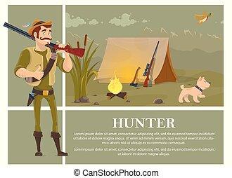 coloré, chasse, plat, concept