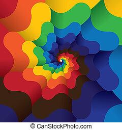 coloré, clair, résumé, spirale, infini, -, vecteur, arrière-...
